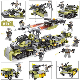 Military Vehicle and Aircraft Set Lego Compatible 296 Pieces - Bluejay Goods