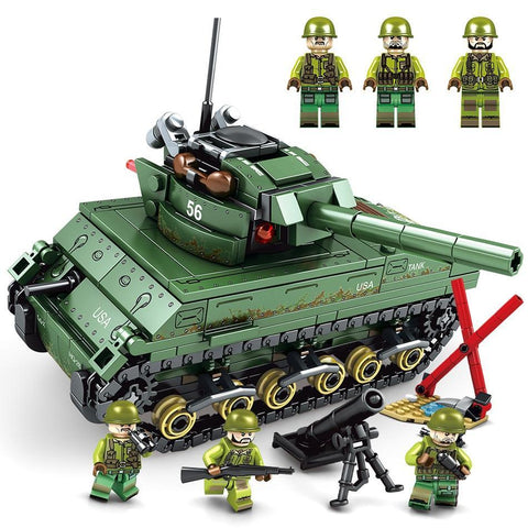 M-4 Sherman Tank - 437 Pieces - Bluejay Goods