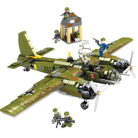 "559PCS WWII Military German ""Junkers Ju-88"" Aircraft Brick Set - Bluejay Goods"