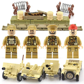 WW2 Military Army Figures UK Soldiers Brick Sets - Bluejay Goods