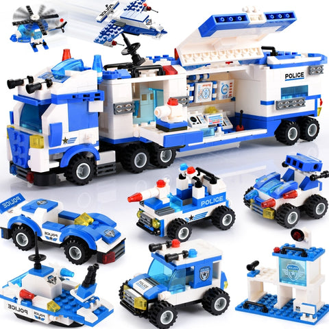 762+PCS 8 IN 1 City Police Series  Toy - Bluejay Goods