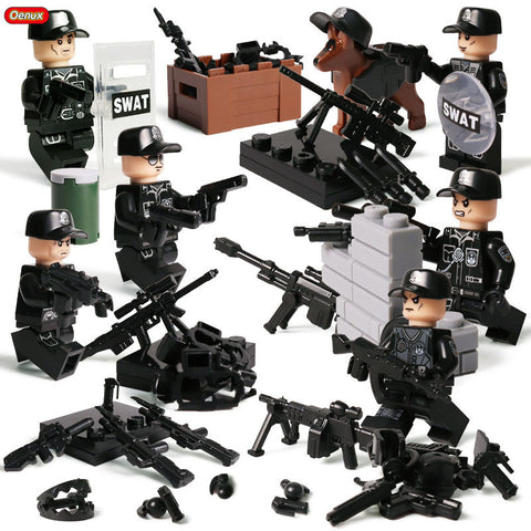 Modern Military Soldiers Camouflage Minifigures With Weapons Toy - Bluejay Goods