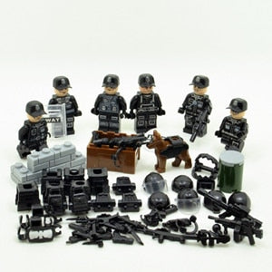 WW2 SWAT Military Special Forces Team Brick Set - Bluejay Goods