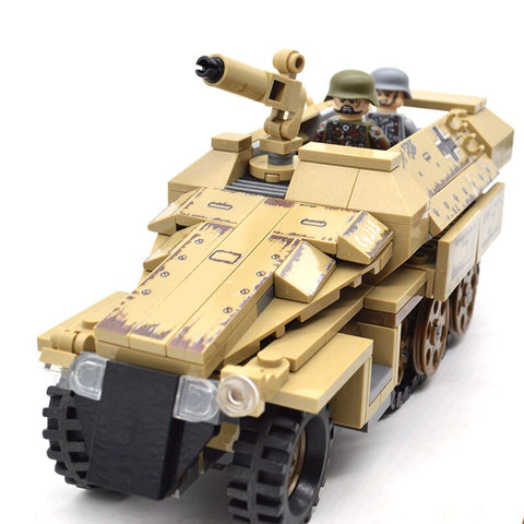 355pcs Armored 5D KFZ 251 Vehicle Set 12 Mini Figures - Bluejay Goods