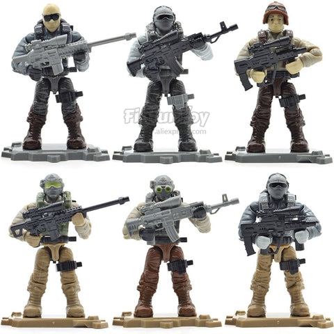 Army Soldiers Military Series with Weapons Building Blocks Bricks Toys - Bluejay Goods