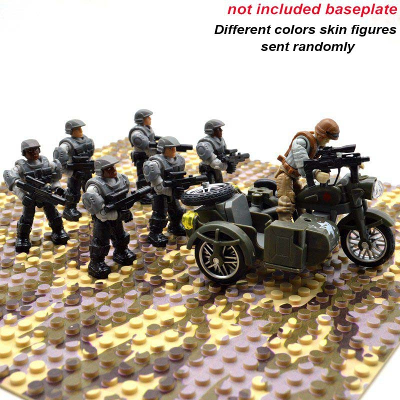Call of Duty Military Blocks Bricks Soldiers Army Figures Building Models 4x//Set