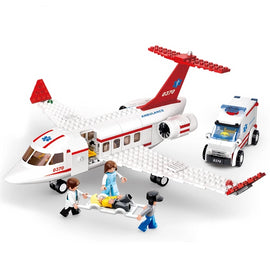 Building Block City Town Aviation Medical Air Ambulance Toy - Bluejay Goods