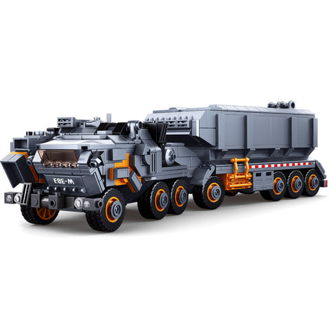 832PCS Sluban Military Heavy Transport Vehicle Truck Toy - Bluejay Goods