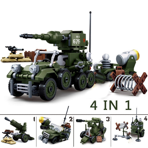 WW2 Sluban Military Tank Set Lego Compatible - Bluejay Goods