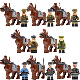 WW2 Army Officers War Horse | France | Italy | Japan | US Britain | China | Russia Military Soldiers - Bluejay Goods