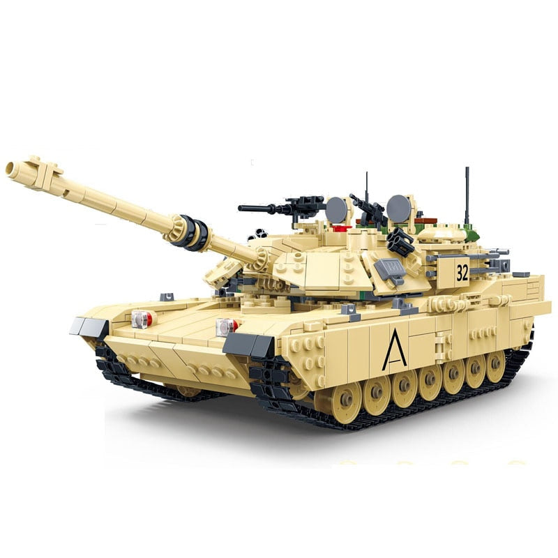 2155pcs M1A2 ABRAMS WW2 US Main Military Battle Tanks - Bluejay Goods