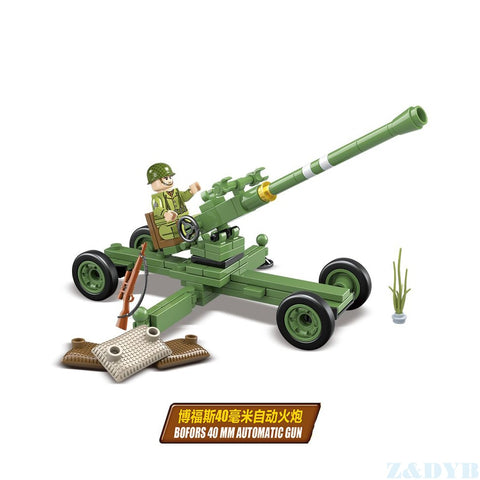 WW2 USA Army Artillery Troops Figures Sets Toy - Bluejay Goods
