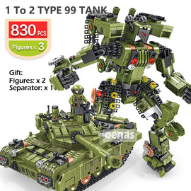 Military Tiger M1A2 Main Tank Deformation Robot Toy - Bluejay Goods