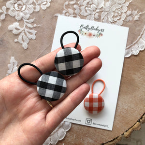 Gingham button bobbles