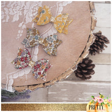 Frou frou fabric bow