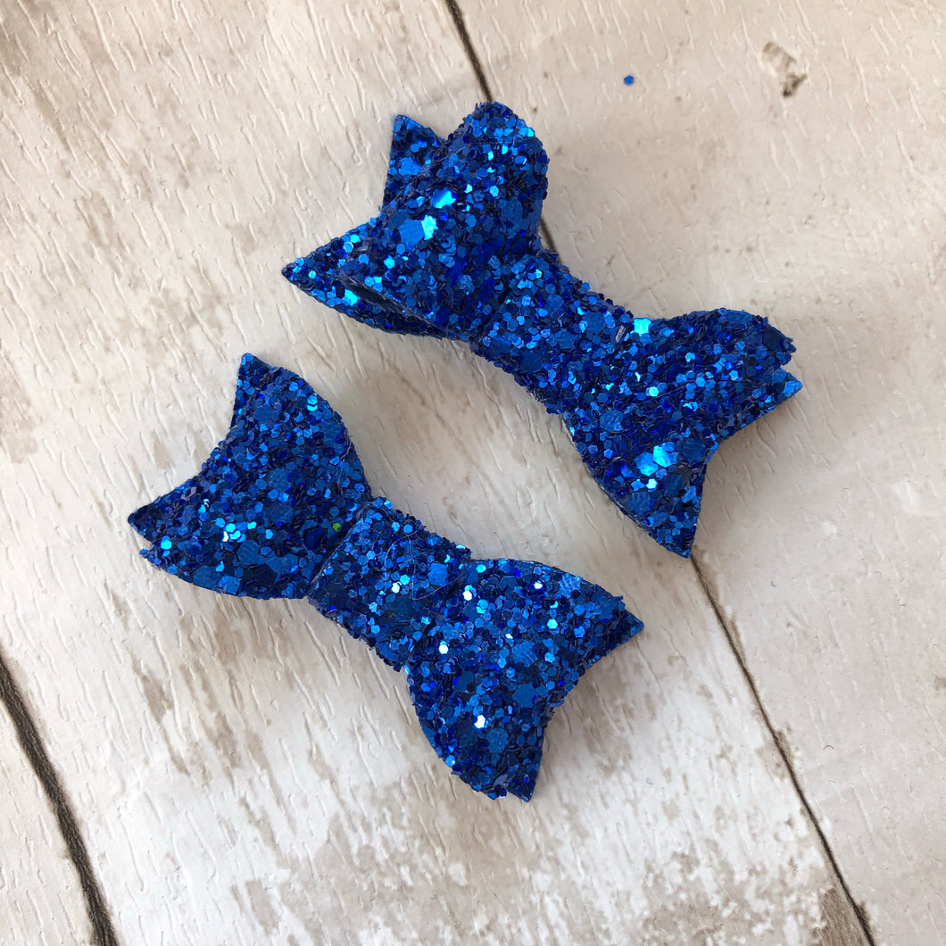 School Glitter kitty bows