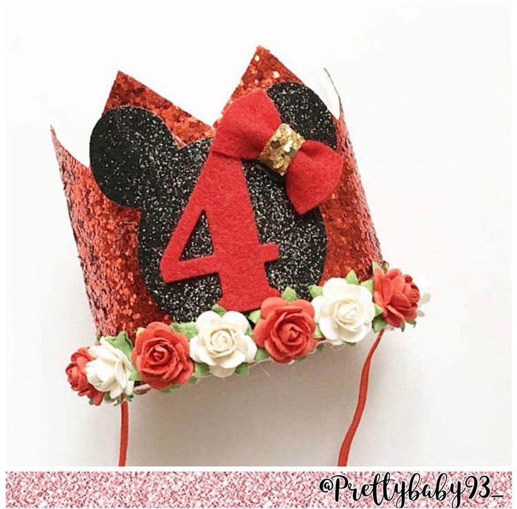Minnie/ Mickey inspired birthday crown