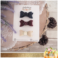 Kitty felt bow / rose middle