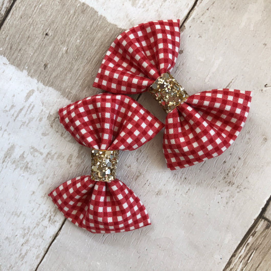 School Gingham Arabella Pinch Bows