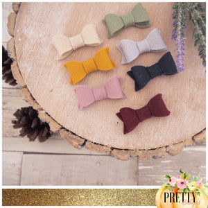 Autumn pack of 7 kitty bows