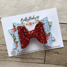 Strawberry double dolly bow