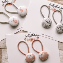 Pigtail button bobbles (eucalyptus, daisy and peach) (6536751546433)