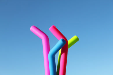 silicone straws in cocktail size by straw hut co.