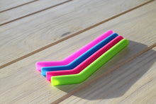 Think and short silicone straws and reusable and washable.