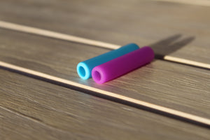 Silicone tips for a reusable steel straw