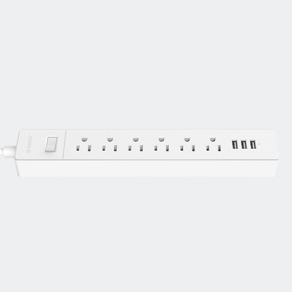 6-Outlet Surge Protector Power Strip with 3 USB Charging Ports - Chozn