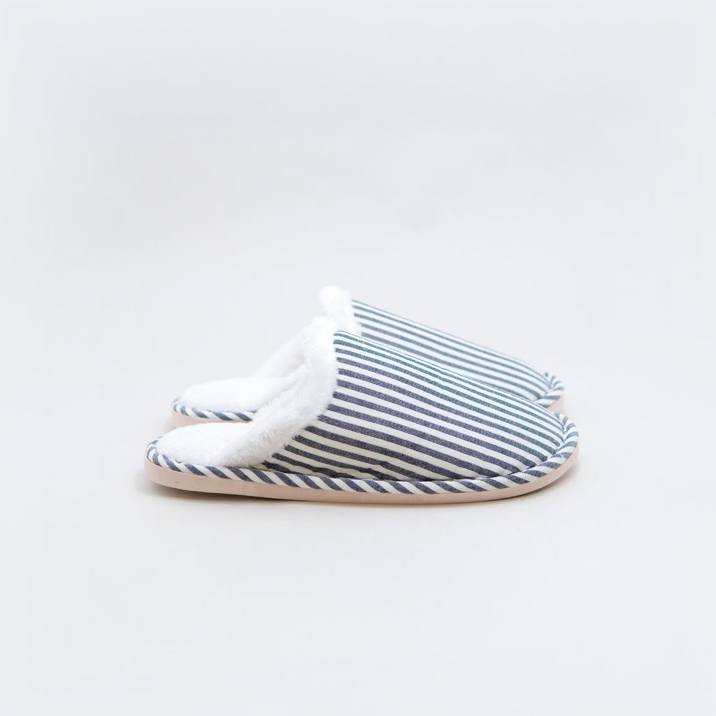 Striped Furry Non-Slip Indoor Slippers - Chozn