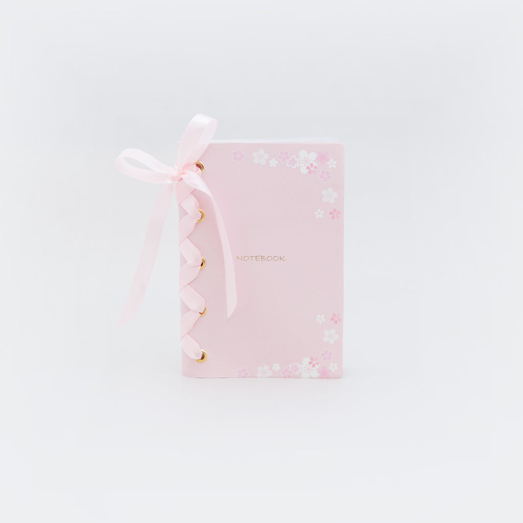 Soft Cover Ribbon Dotted Notebook (B6) - Chozn