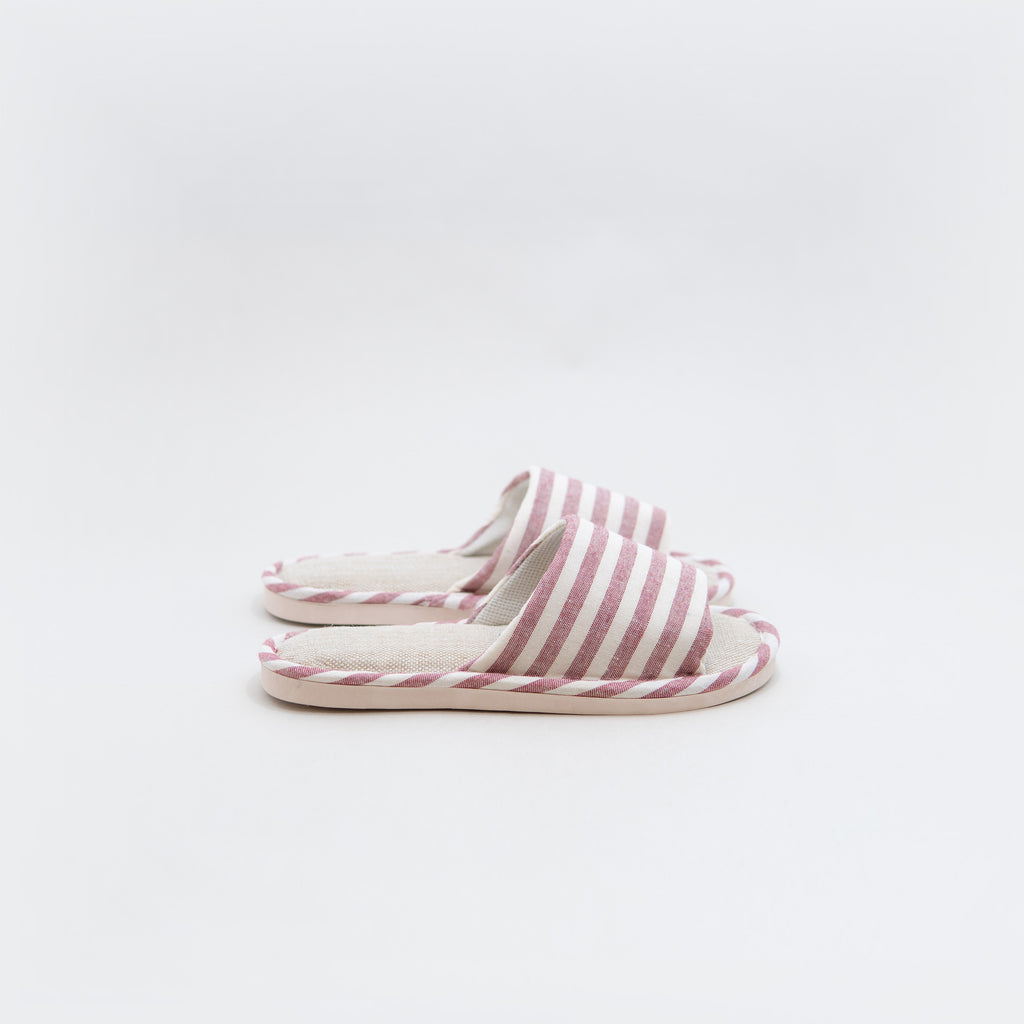 Striped Linen Non-Slip Indoor Slippers - Chozn