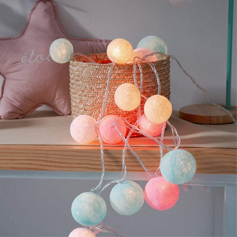 led balls, christmas decor, cotton balls, house decor