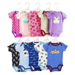 5 PIECES SET COTTON ROMPERS/ONESIES FOR NEWBORN TO 2 YRS OLD