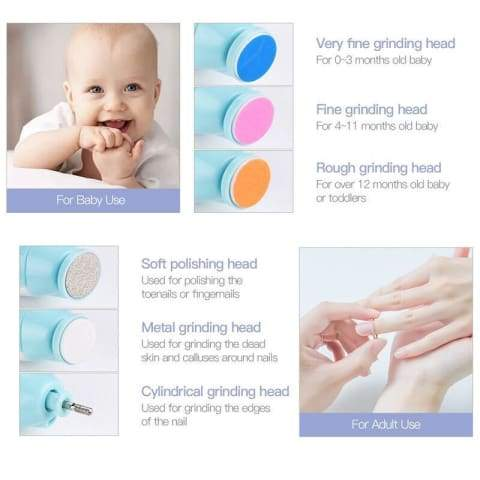 Infant Multifunctional Electric Baby Nail Trimmer Set
