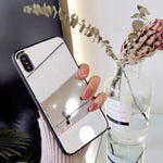 Luxury Mirror Glass Phone Case for iPhone-Buy 3 Get 4 &Free Shipping
