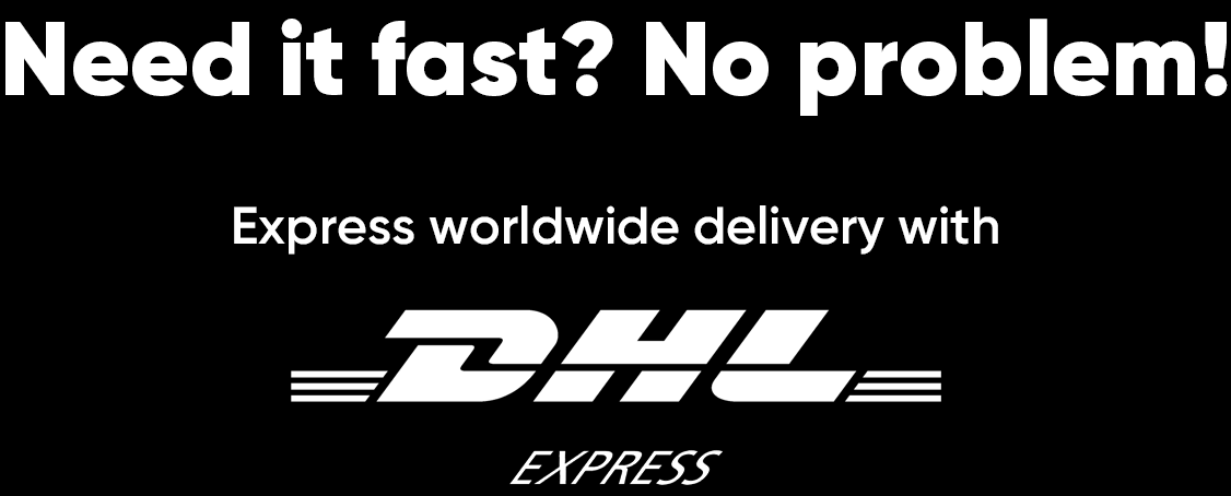 Fast worldwide delivery with DHL Express
