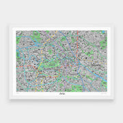 Jenni Sparks Hand Drawn Map of Berlin - Evermade