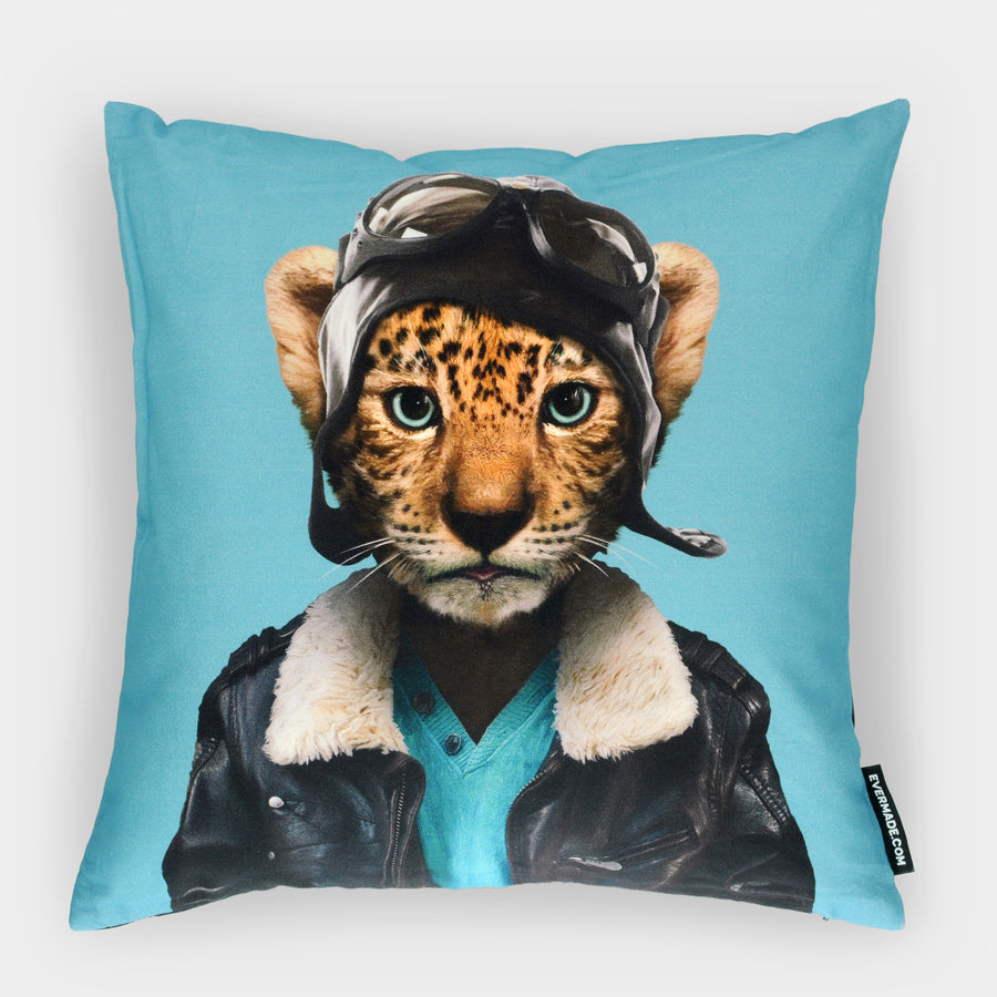 Yago Partal Leopard Cub Cushion - Evermade