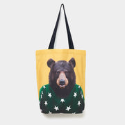Yago Partal Bear - Zoo Portrait Tote Bag - Evermade