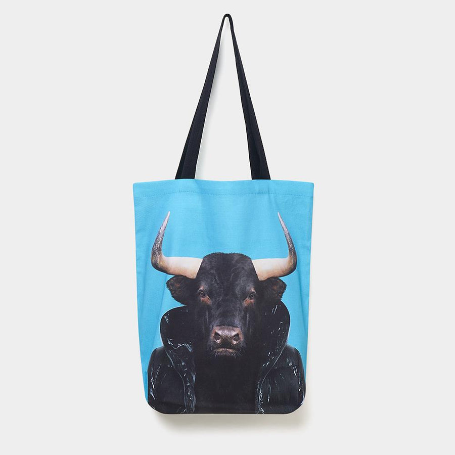 Yago Partal Spanish Bull - Zoo Portrait Tote Bag - Evermade