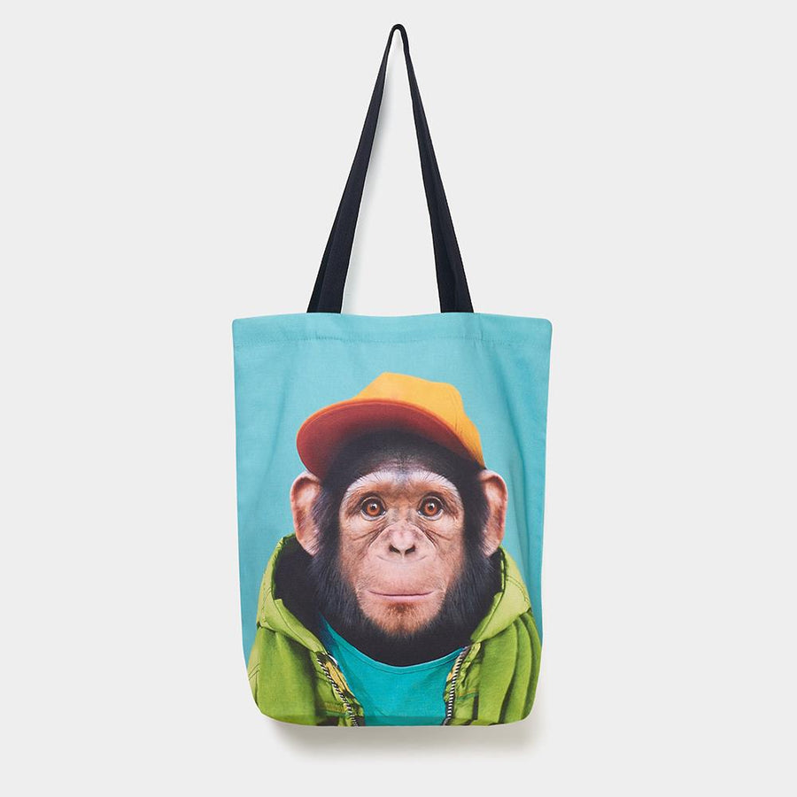 Yago Partal Chimpanzee - Zoo Portrait Tote Bag - Evermade