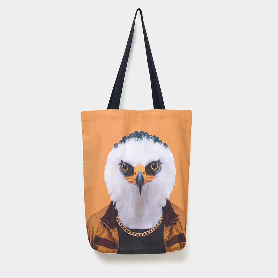 Yago Partal Eagle - Zoo Portrait Tote Bag - Evermade