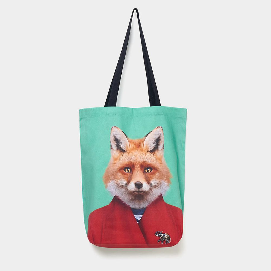 Yago Partal Fox - Zoo Portrait Tote Bag - Evermade