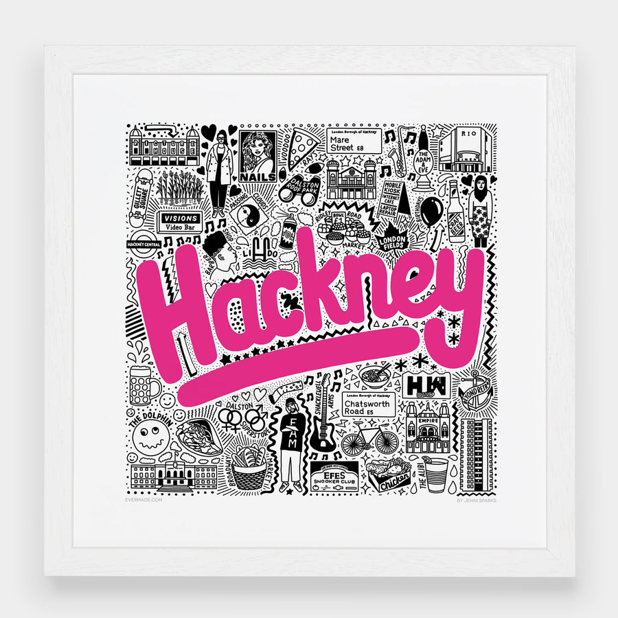 Hackney Hometown Print - Evermade