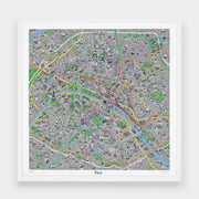 Hand Drawn Map of Paris - Evermade