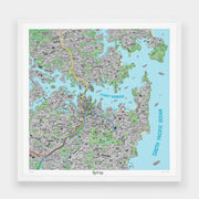 Jenni Sparks Hand Drawn Map of Sydney - Evermade