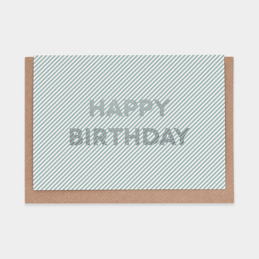 Evermade Studio Happy Birthday (Stripes) - Evermade