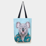 Yago Partal Koala - Zoo Portrait Tote Bag - Evermade